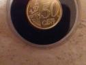 Moneda 50 centi pictata cu Regele Mihai I