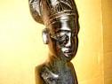 7970-Statuieta veche Art Deco bust Femeie Africa abanos.