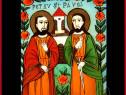Sfinții Apostoli Petru și Pavel icoană pe sticlă