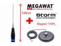 Set Antena Radio CB Megawat ML145 cu Talpa Magnetica Storm