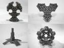 Puzzle magnetic Tesla Balls stelar negru,neocube,bile magnet