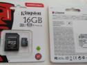 Card micro sd cu adaptor 16gb cu viteza citiere 10,nou nout