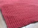 Covor lana rosu, fabricat manual in india ! nou ! 160 x 230