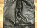 Pantaloni clasici polo piele de calitate moto,rock,strada