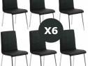 Set 6 scaune de bucatarie cadrul metalic cromat-TRANSPORT GR