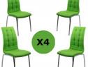 Set 4 scaune de bucatarie cadrul metalic cromat -TRANSPORT G