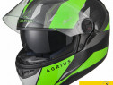 Casca moto Noua - 4* SHARP- Ochelari - Agrius Fusion Verde