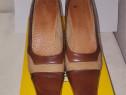 Pantofi dama maro-bej din piele marimea 40