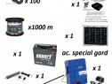 Set gard electric premium 1000m, incarcare solara