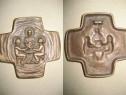 A213-Aplica vintage Hristos cu 2 Apostoli bronz 7 cm.
