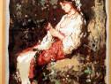 Goblen lucrat în așteptare , dim. 18 /26 cm , 18 culori