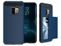Husa Samsung Galaxy S9 Plus - Brushed Sliding Card Dark Blue