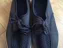 Pantofi bleumarin de vara, din panza, de barbati, marimea 41