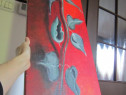 Cadou inedit -tablou pictat, superb 90x30 cm