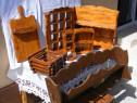Obiecte din lemn rustice(decoratiuni pentru casa si gradina)