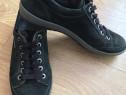Pantofi barbatesti Legero negri piele intoarsa + Gore-tex 40