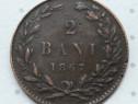 Moneda 2 bani 1867 Watt & co