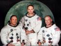 Echipajul Apollo 11 (prima aselenizare) - carte poştală