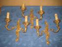 A385-Set 3 Aplice electrice identice bronz masiv aurit