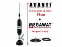 Antena radio cb fluture avanti volo 95cm cu magnet megawat 1