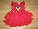 Costum carnaval serbare rochie angri bird 6-7 ani