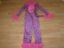 Costum carnaval serbare animal pantera roz 9-10 ani