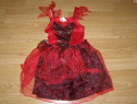 Costum carnaval serbare vrajitoare vampirita 3-4 ani