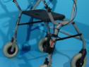 Premergator, rolator, cadru de mers cu roti, sezut si spatar