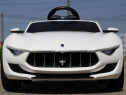 Masinuta Maserati Alfieri 12V cu LED ROTI Baterie Detasabila