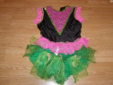 Costum carnaval serbare rochie dans floare 8-9 ani