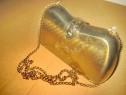 A476- Geanta vintage inox aurit in stare buna cu aurirea uz.