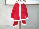 Costum copii Mos Craciun baieti 5 - 6 ani + caciulita