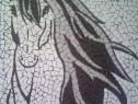 Tablou mozaic ceramica decor White horse
