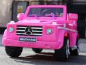 Masinuta electrica mercedes g55 amg echipata cu roti moi roz