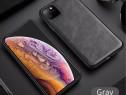 Husa Slim X Level Imitatie Piele Neagra - Iphone 11 PRO MAX