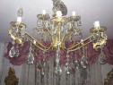 Candelabru vintage baroc-ludovic,cristale Bohemia