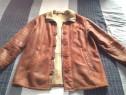 Cojoc, haina kapraun, piele naturală. mărime 52-54