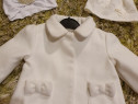 Palton alb elegant botez Early Days 3-9 luni