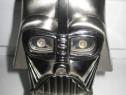413- Vader-Bricheta mare decor de birou in metal argintiu.