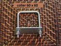 Colier 60x60 brida clema sistem fixare gard panou bordurat