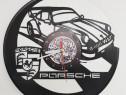 """""""Porsche Auto""""Ceas de perete lucrat manual din discuri de Vi"""