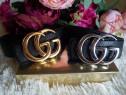 Curea GG cu catarama argintie/aurie