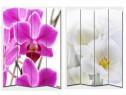 Paravan din lemn despărțitor imprimat gama Orhidee