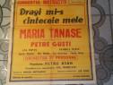 Afis concert MARIA TANASE anii '50