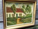 Tablou cabana pescarului Geo. Mills 1945