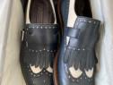 Pantofi Ermenegildo Zegna bicolore strap,produs original