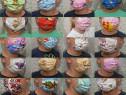 Măști protecție din bumbac 100%,2 straturi :pt copii/adulți