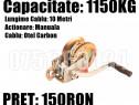 Troliu Scripete Macara Manual 1150 KG Cablu Otel Carbon 10 M