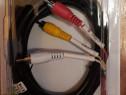 Cablu/mufa scart 21 p - 3 RCA tata SCART 32, 2 m, Nou!