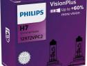 Bec Philips H7 12V 55W Visioplus Set 2 Buc 12972VPC2